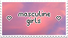 masculine girls stamp! by Lepedi