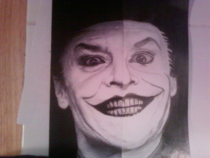 Half face joker