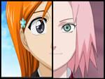 Sakura and Orihime