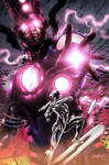 Galactus vs The Silver Surfer by Jimbo Salgado