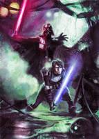 Anakin vs. Vader by diazartist