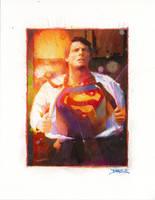 Reeves Superman by diazartist
