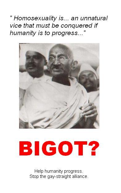 Mahatma Gandhi: Bigot? by Roshi69