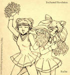 Chibiusa and Meiling: Cheer Outfits by EnchantedRevelation