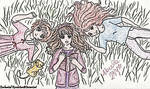 Sakura, Hermione and Ginny by EnchantedRevelation