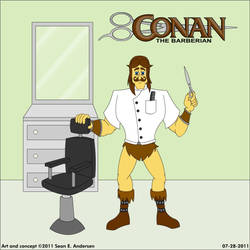 Conan the Barberian by TheRealSneakers