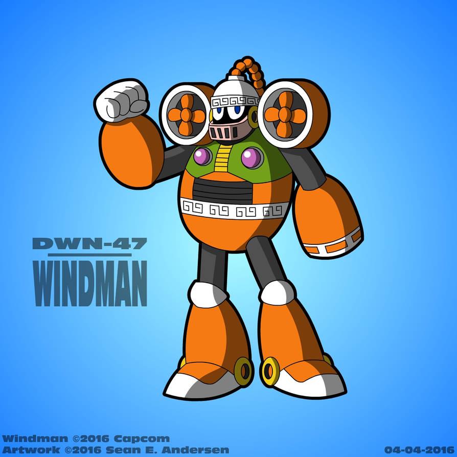 Wind man megaman