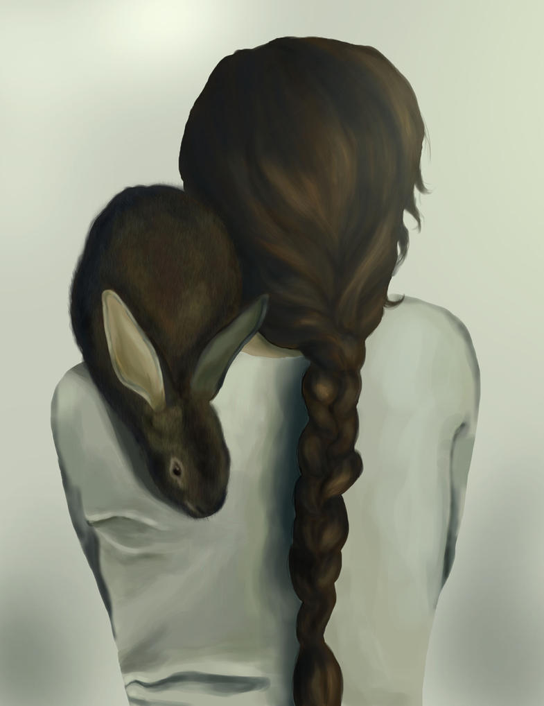 Bunny Lady by clementine-petrova