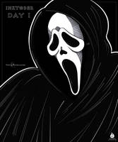INKTOBER DAY 1 - GHOSTFACE by Fairloke