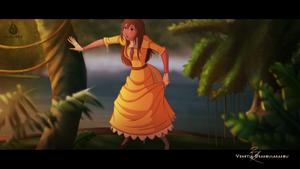 Jane Porter in the Jungle.