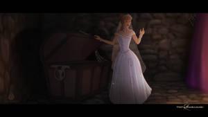Cinderella Finds An Old Oak Chest.