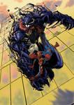 Spidey vs Venom colored