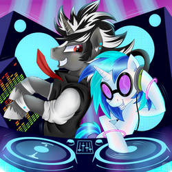 DJ's at work by SwanLullaby