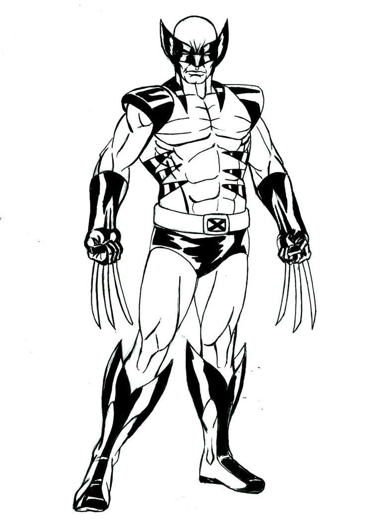 Wolverine Drawing by ricktimusprime0825