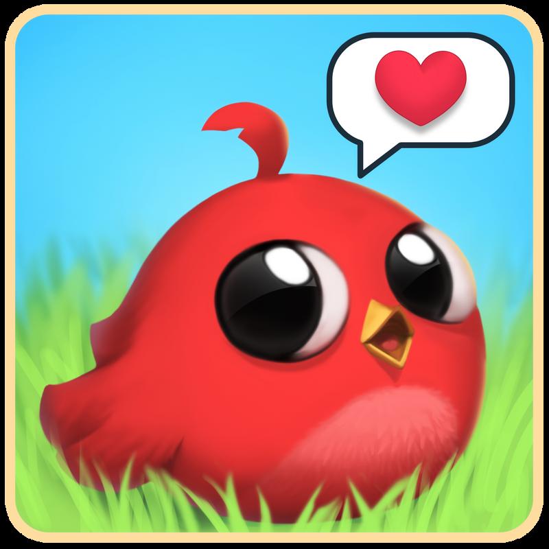 Cute  tamagotchi bird game icon by Doodah