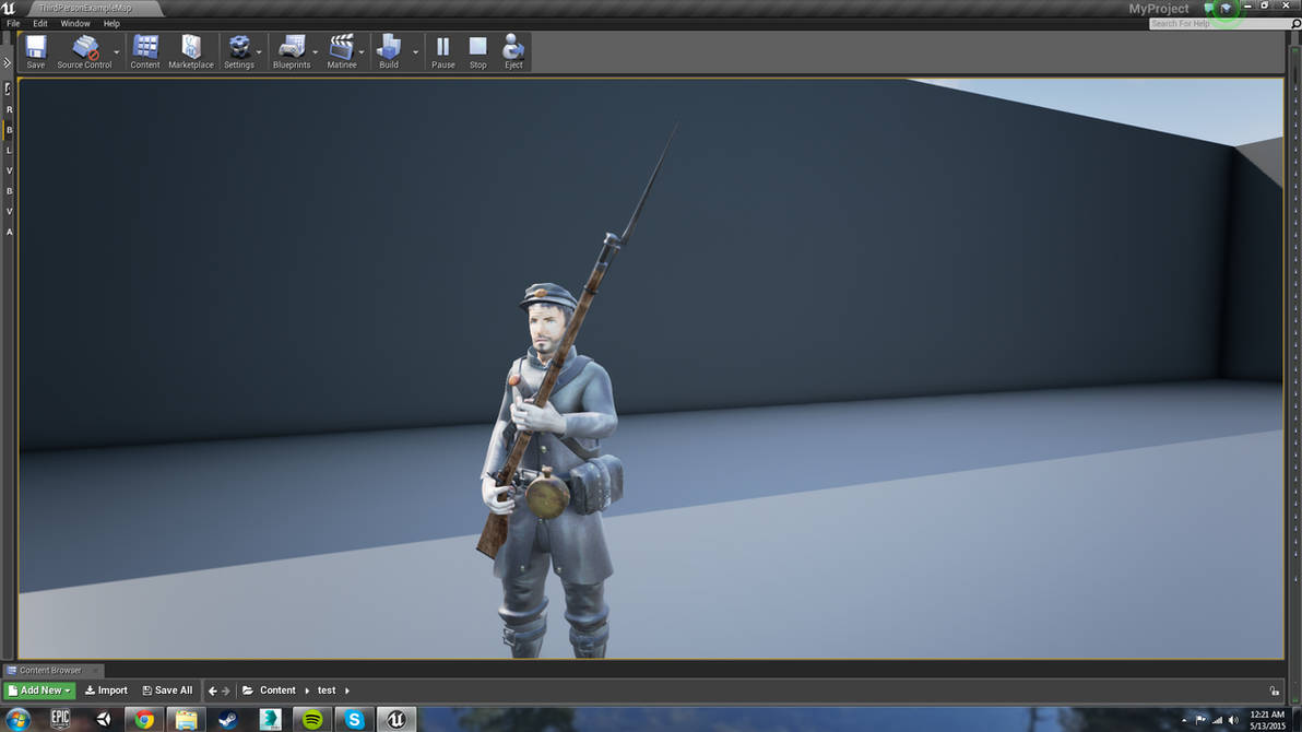 RIgged, Animated Civil War Soldier (UnrealEngine4) by Makivic on