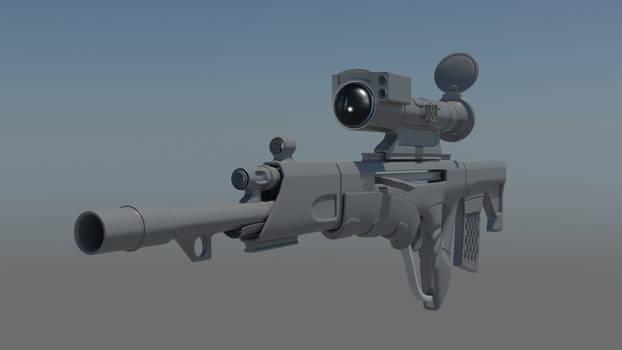 Futuristic Rifle (WIP)