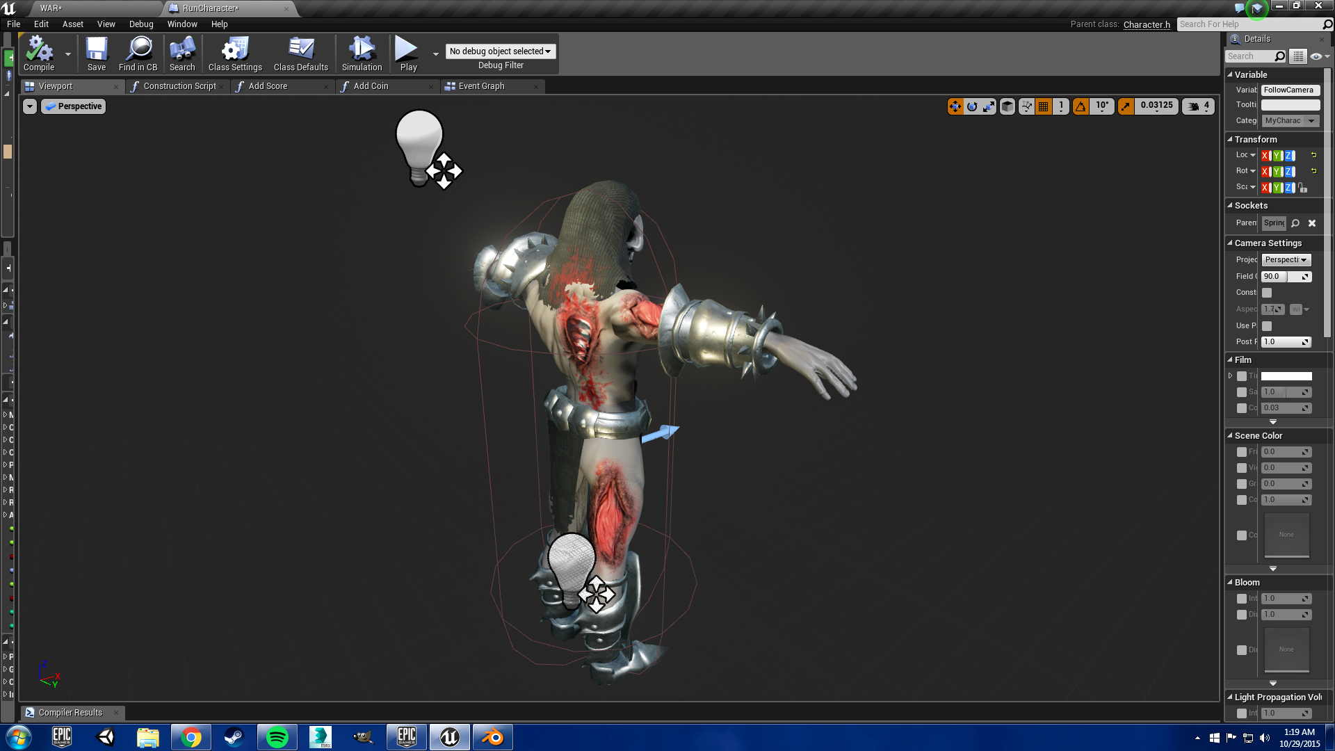 how to create characters for unreal engine