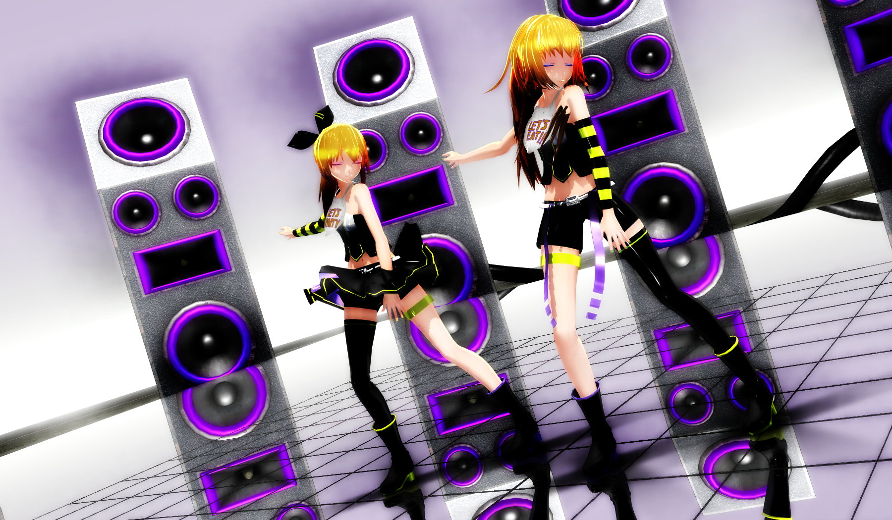 [MMD X FNAF] Luvoratorrrrry! Chica And Toy Chica By Dark