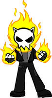 Leo as Ghost Rider