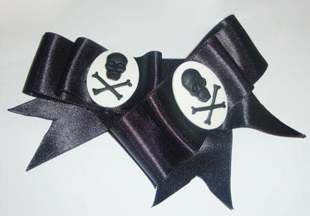 Black Cameo Bows by Sophie-Adamson