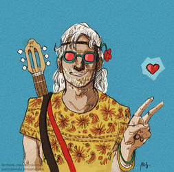 Hippie Geralt - Witcher by mstrychowska