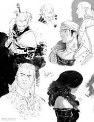 The Witcher sketch dump
