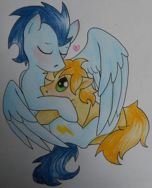 Soarin X Braeburn by HaterThePony