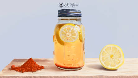 Jar of lemons and spices