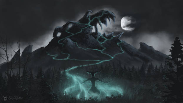 Enchanted mountain by a demon !