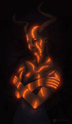 Glowing succubus
