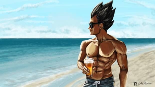 Fan Art Vegeta on vacation