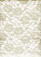 Lace Cream on White by KameleonKlik