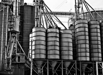 Grain Dryer - Black and White by KameleonKlik