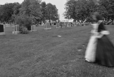 Ghost in the graveyard by KameleonKlik