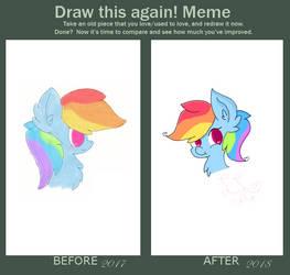 Draw This Again Meme: Rainbow Dash