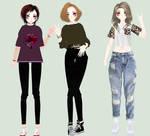 Three Female Model DL