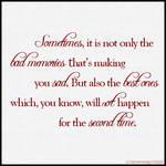 Good and bad memories
