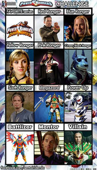 My Power Ranger Challenge
