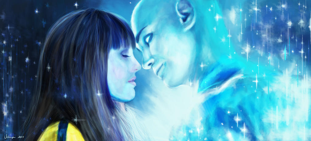 Image result for silk spectre and dr manhattan