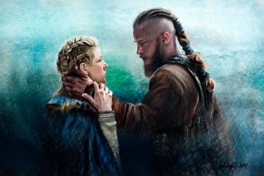 Ragnar and Lagertha by RussianVal