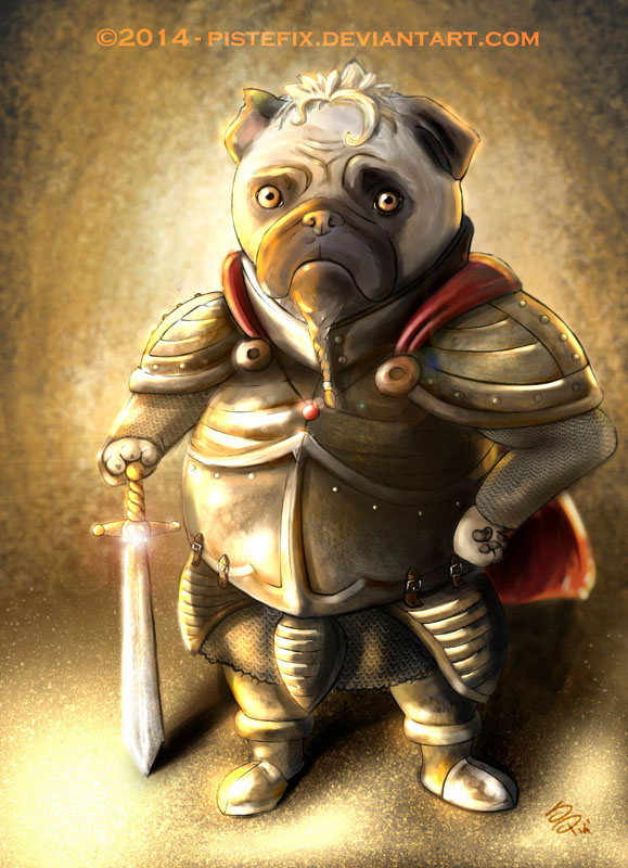 Pug Warrior by Moonpix-Studios