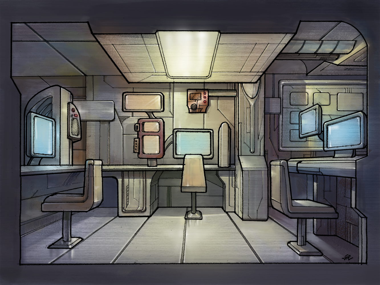 ... The Black Wing Computer Lab By GleamingScythe