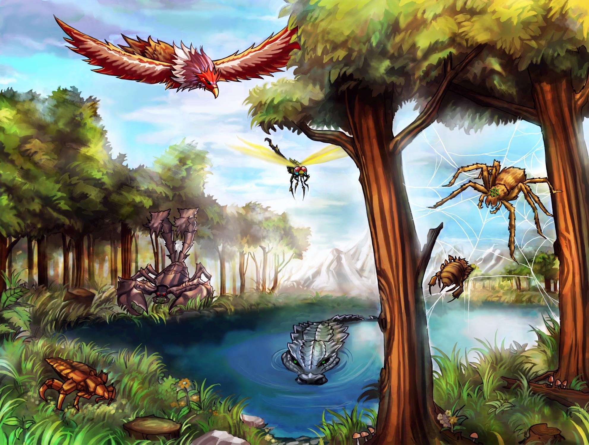 Forest habitat by gleamingscythe