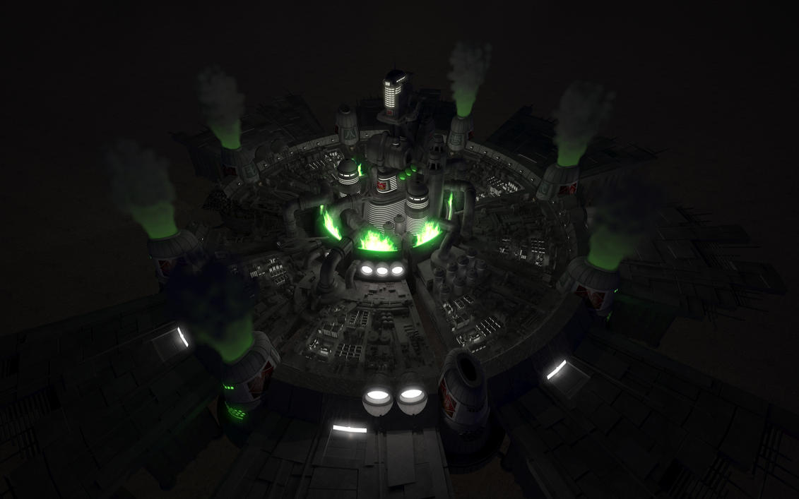 Midgar Night Render Test by Killerx20