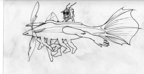 Breeze Original Drawing by mensch-o-matic