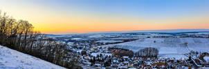 Sunset above the village of Verrenberg