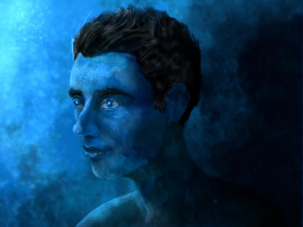 Blue Man by cadorath