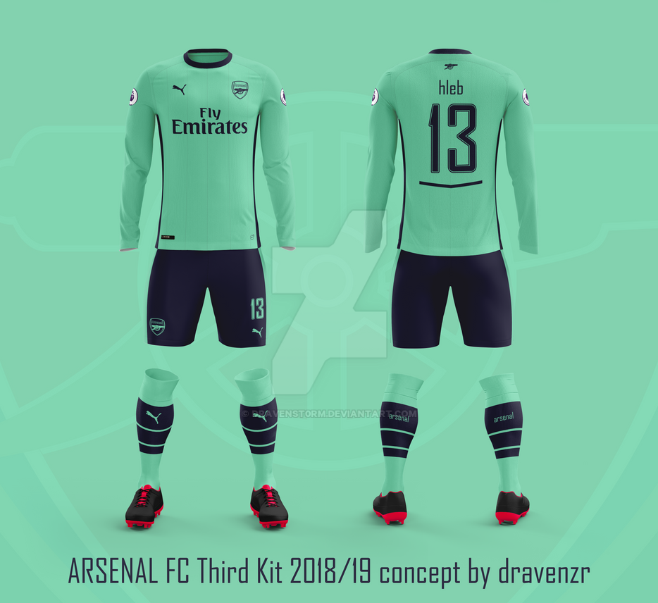 Arsenal FC Third Kit 2018 19 Concept by Dravenzr by dravenSt0rM on ... cff7c5490