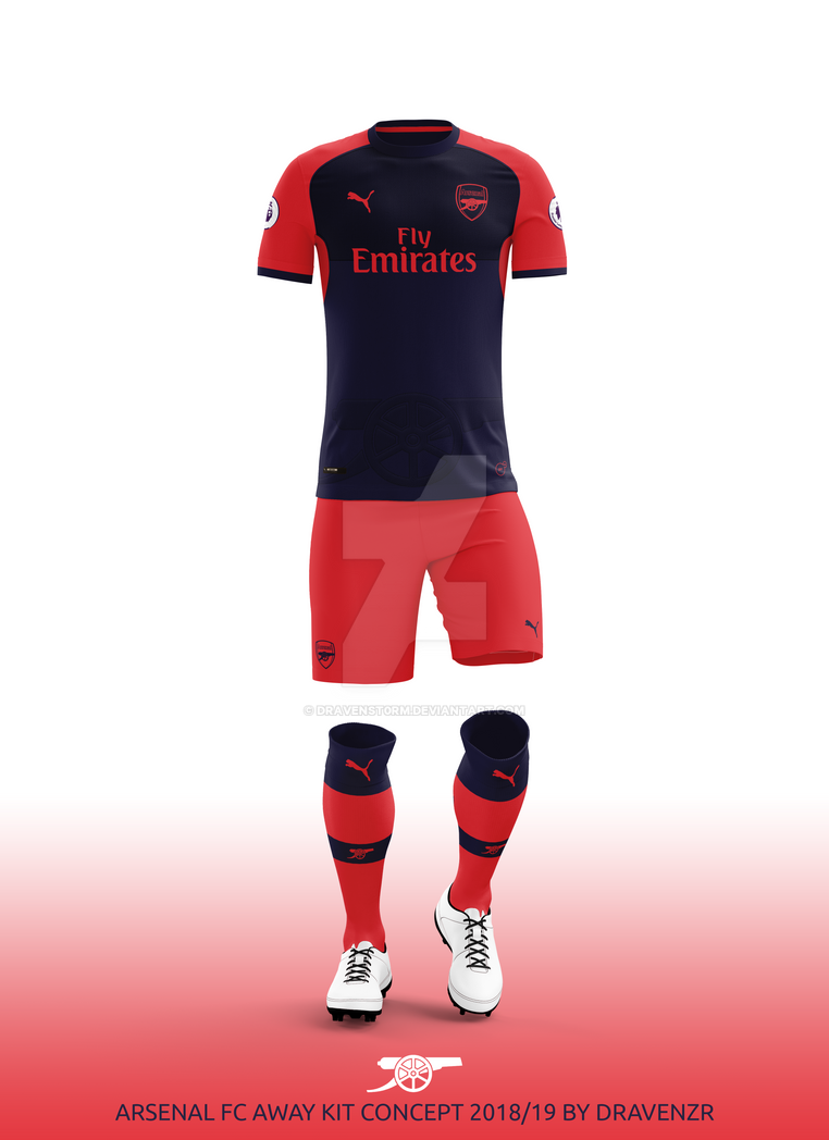 779e73e6937 Arsenal FC Away Kit 2018/19 Concept by Dravenzr by dravenSt0rM on ...